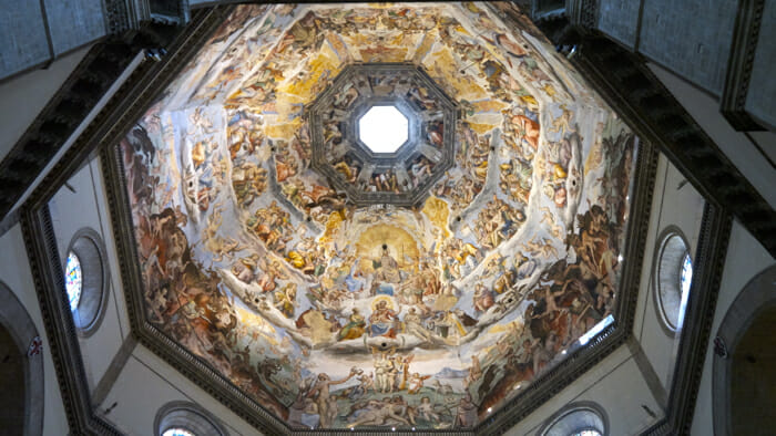 The painted inside of the Duomo