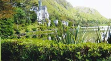 photo, image, kylemore abbey, ireland
