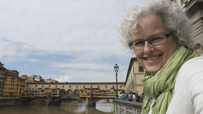 View of Ponte Vecchio in background