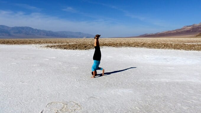 photo, image, badwater basin, headstand