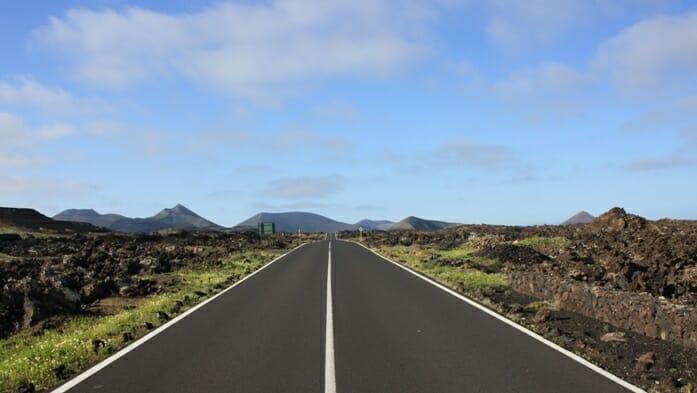 photo, image, road, lanzarote