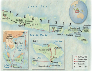 I'll be visiting Java and Bali.