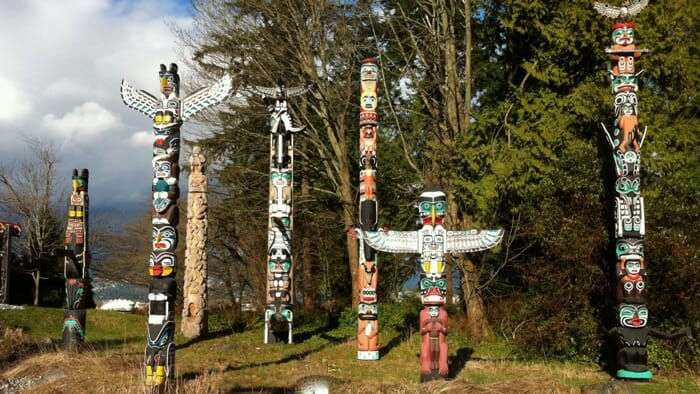 I started out in Vancouver - Totem Poles in Stanley Park.