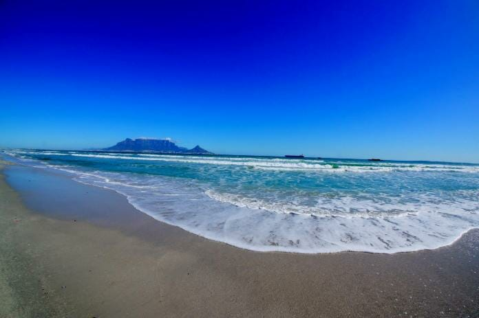 photo, image, table mountain, beach