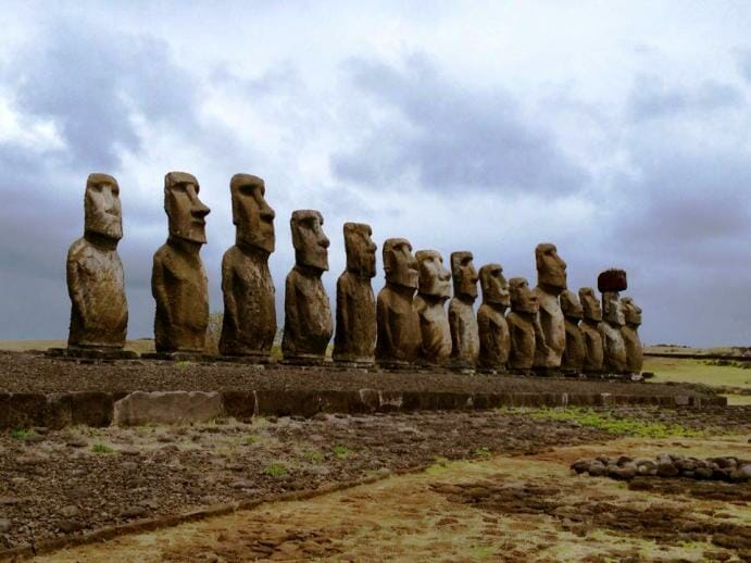 photo, image, maoi, easter island