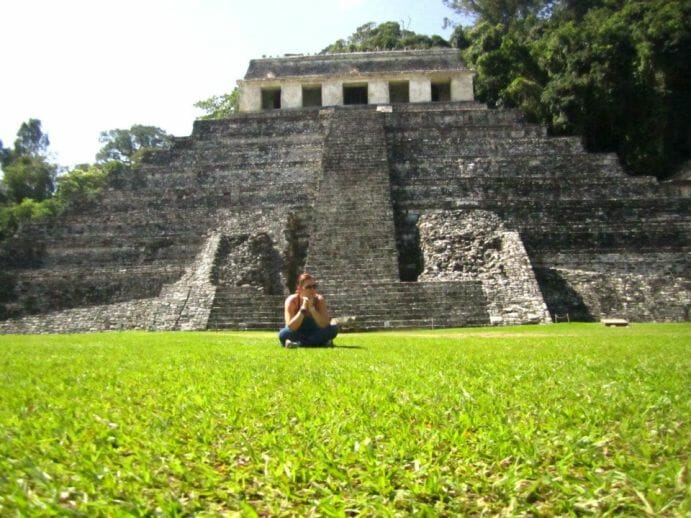 photo, image, palanque, mayan ruins