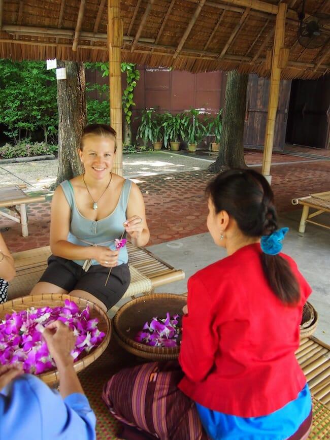 Orchid flower workshop in Thailand