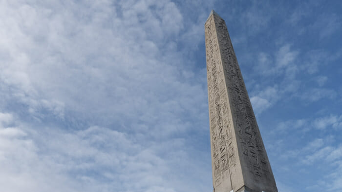 Paris is the Egyptian obelisk Place de la Concorde