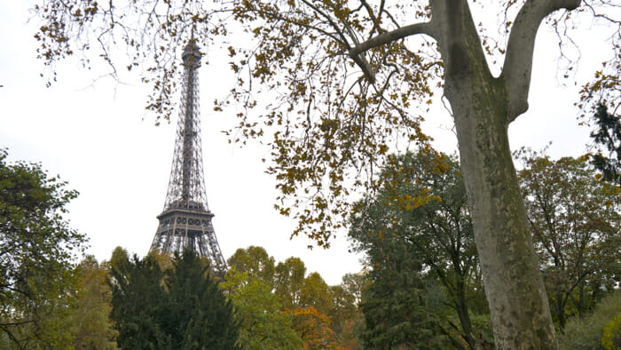Paris is, of course, the Eiffel Tower