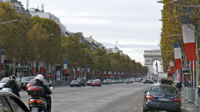 Paris is the Champs-Élysées.