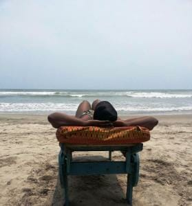 photo, image, woman, beach, ghana