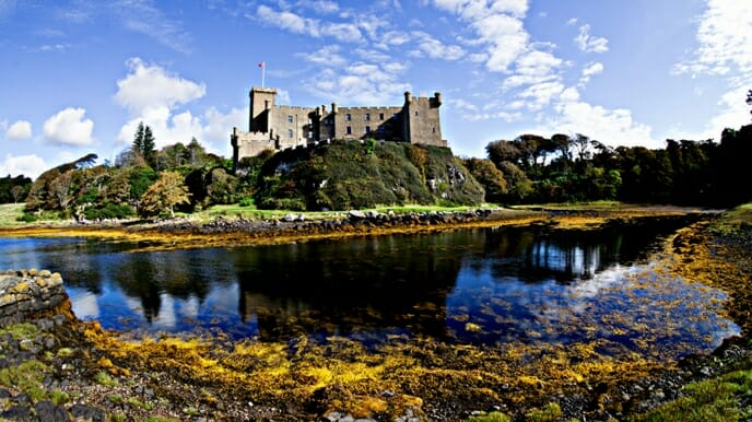 photo, image, castle dunvegan, scotland