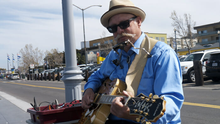 Dave Earl, blues Fisherman's Wharf