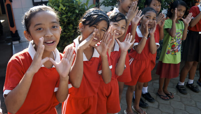 A visit to a local school is on ever OAT itinerary. These children sang us a welcome song in English.