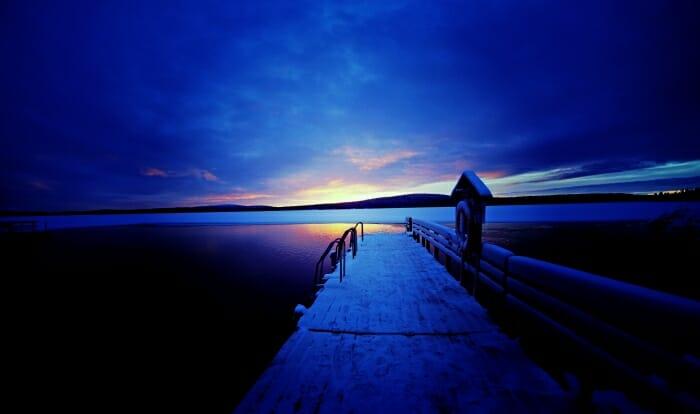 photo, image, sunset, finland, muonio