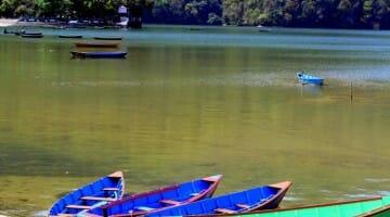 photo, image, pokhra lake, boats