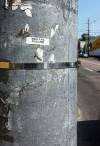 photo, image, you are strong, telephone pole