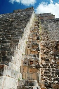 photo, image, pyramid of the magician, uxmal, mexico