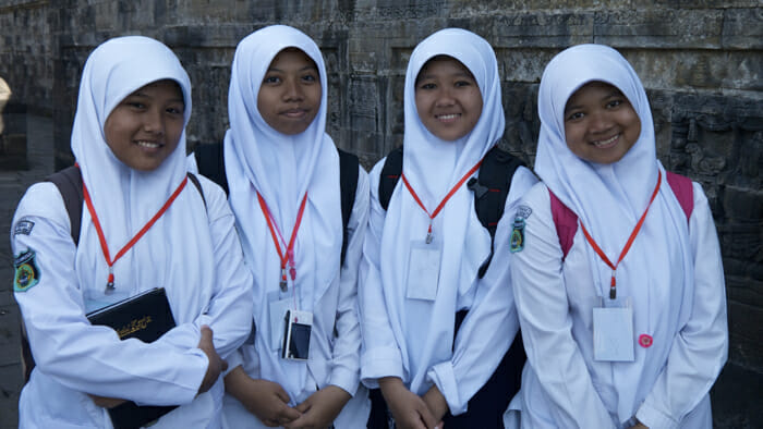Students from West Java were visiting the Temple.