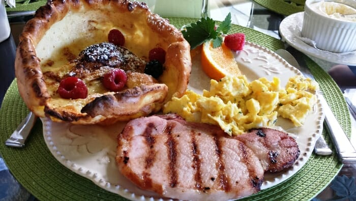 photo, image, breakfast plate