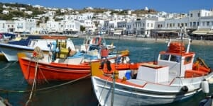 photo, image, boats, mykonos
