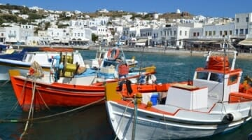 photo, image, boats, mykonos