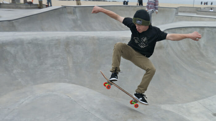 The skateboarding park is amazing.