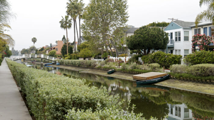 There is more than a beach in Venice Beach. A few blocks inland and you can walk the Canal trails.