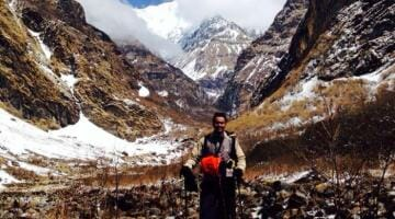 photo, image, hiker, annapurna, nepal