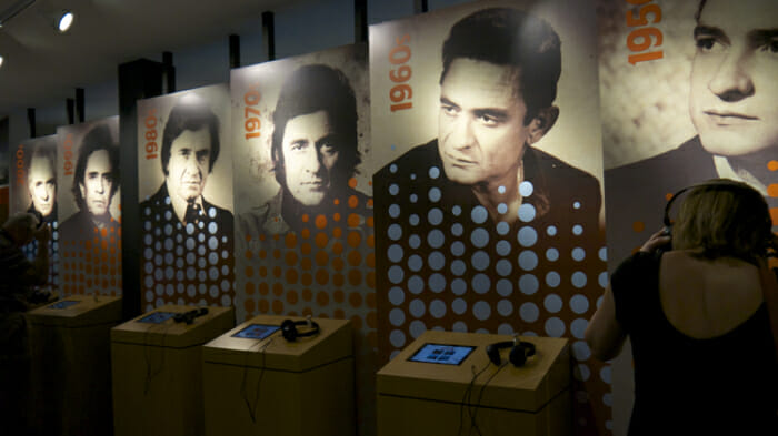 The Johnny Cash museum is just a block south of Broadway.