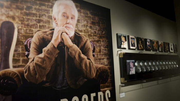 There's currently a special Kenny Rogers exhibit at the Country Music Hall of Fame.