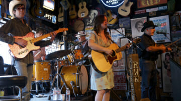 Rachel Hester & the Tennessee Walkers playing at Roberts on Broadway.