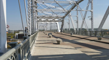 Shelby Street Bridge walking bridge.