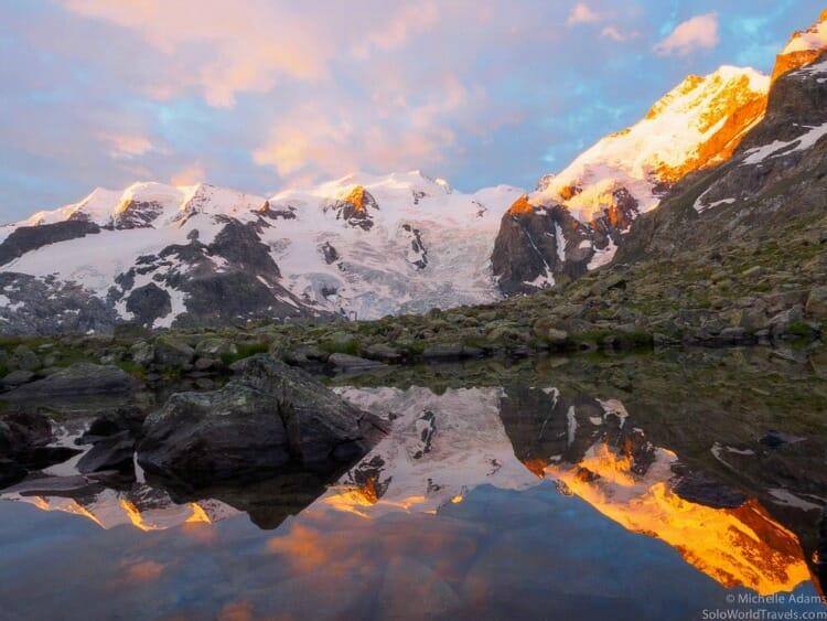 photo, image, sunrise in switzerland
