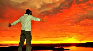photo, image, man, sunset