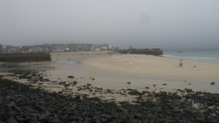 My first view of the sea at St. Ives