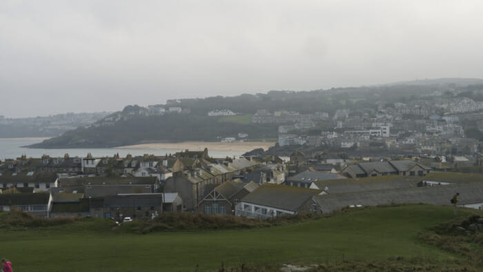 View of St. Ives from the Island.