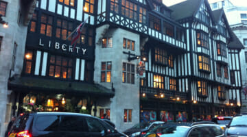 LIberty's of London dates back to  It is one of the oldest shops in the city and located just south of Oxford Street and in the first block east of Regent Street. Around the corner is Carnaby Street. Yes, the heart of London Shopping.