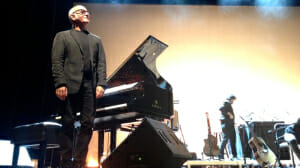 Ludovico Einaudi at NYU's Skirbal Center. What a man. What a talented and tiny man.