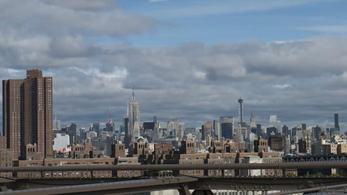 View of Lower East Side from Brooklyn Bridge