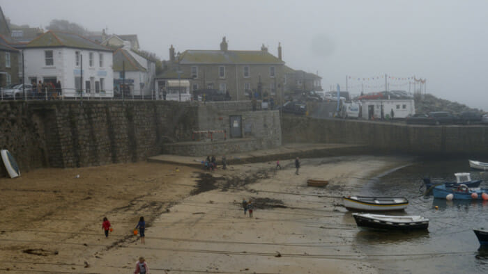 Low Tide in Mousehole Harbour.