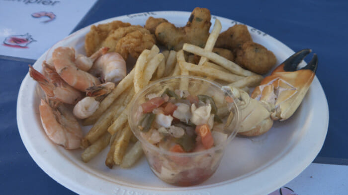 There were many options but the Seafood Sampler gives you a bit of everything. Cost: $20