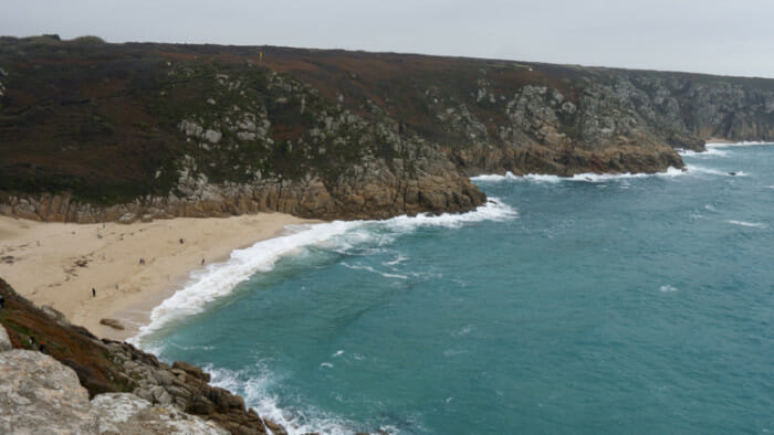 Friday, between Porthcurno and Land's End, the weather was much brighter.