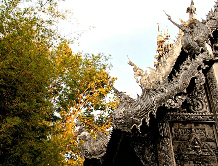 photo, image, silver temple, chiang mai, thailand