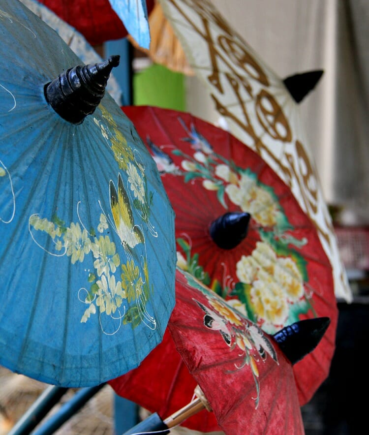 photo, image, umbrellas, chiang mai, thailand