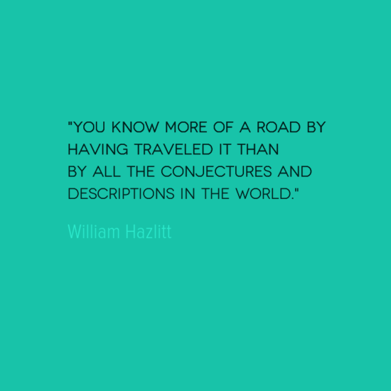 photo, image, best solo travel quotes, william hazlitt