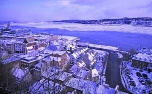 photo, image, quebec city, st. lawrence river