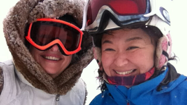 Me and Junko, my Max4 Ski Instructor.