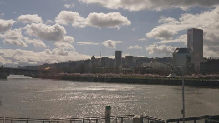 Portland from the train bridge.