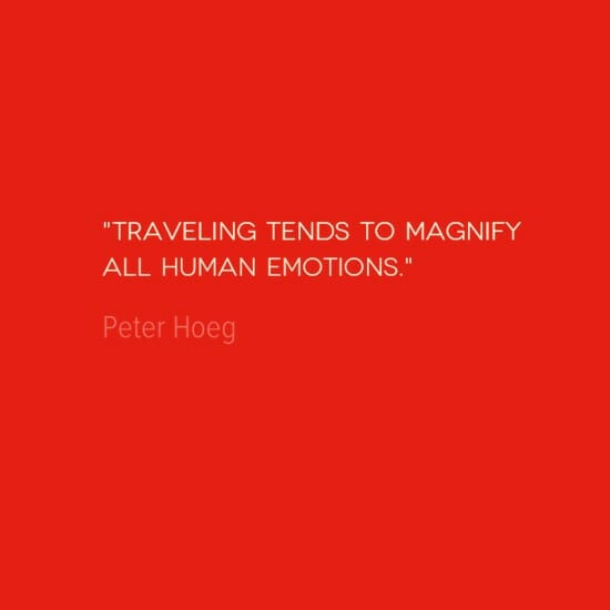 photo, image, best solo travel quotes, magnifying emotions, peter hoeg